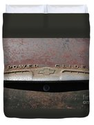Chevy Power Glide Trunk Emblem Duvet Cover