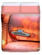 Chevy Truck Emblem Duvet Cover