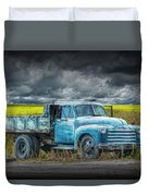 Chevy Truck Stranded By The Side Of The Road Duvet Cover