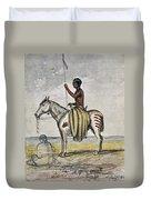 Cheyenne Warrior, 1845 Duvet Cover