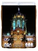Chhatrapati Shivaji Terminus Formerly Victoria Terminus In Mumbai-3 Duvet Cover