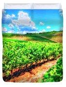 Chianti Vineyard In Tuscany Duvet Cover