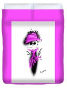 Chic In Pink Silk Couture  Duvet Cover
