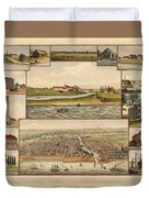 Chicago 1779-1857 Duvet Cover
