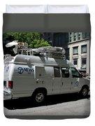 Chicago Abc 7 News Truck Duvet Cover