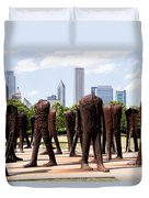 Chicago Agora Headless Statues Duvet Cover