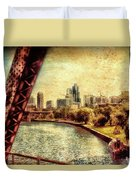 Chicago Approaching The City In June Textured Duvet Cover