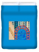 Chicago Place On N. Michigan Ave Duvet Cover