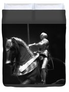 Chicago Art Institute Armored Knight And Horse Bw 01 Duvet Cover