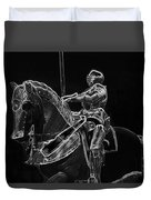 Chicago Art Institute Armored Knight And Horse Bw Pa 02 Duvet Cover