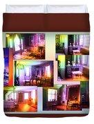 Chicago Art Institute Miniature Rooms Prismatic Collage Duvet Cover