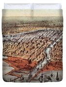 Chicago As It Was Duvet Cover