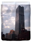 Chicago At Dusk Duvet Cover