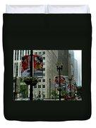 Chicago Blackhawk Flags Duvet Cover