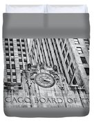 Chicago Board Of Trade Bw Duvet Cover