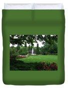 Chicago Botanical Gardens Landscape Duvet Cover