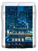 Chicago Bridges Poster Duvet Cover