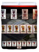 Chicago Bulls Banners Collage Duvet Cover