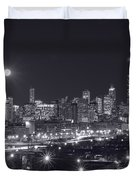 Chicago By Night Duvet Cover