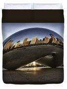 Chicago Cloud Gate At Sunrise Duvet Cover