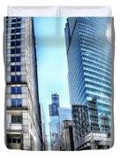 Chicago Concrete Canyons Duvet Cover