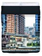 Chicago Cta Lake Street El In June Duvet Cover