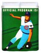 Chicago Cubs 1972 Official Program Duvet Cover