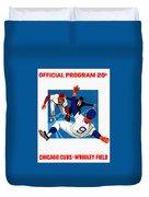 Chicago Cubs 1974 Program Duvet Cover