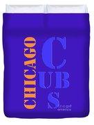 Chicago Cubs Baseball Team Vintage Original Typpography Duvet Cover