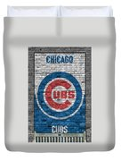 Chicago Cubs Brick Wall Duvet Cover