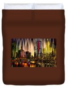 Chicago Draws The Curtain Duvet Cover