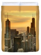 Chicago Evenings Duvet Cover