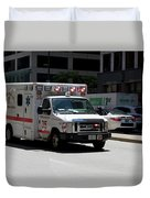 Chicago Fire Department Ems Ambulance 35 Duvet Cover