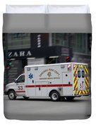 Chicago Fire Department Ems Ambulance 53 Duvet Cover