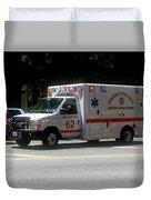Chicago Fire Department Ems Ambulance 62 Duvet Cover