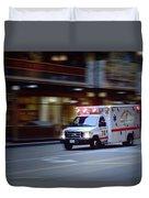 Chicago Fire Department Ems Ambulance 74 Duvet Cover