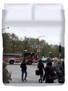 Chicago Fire Department Truck 13 Duvet Cover