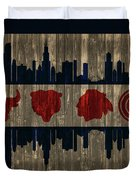 Chicago Flag Barn Door Duvet Cover