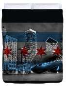 Chicago Flag Bean Duvet Cover