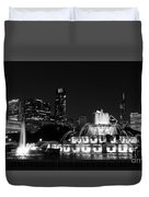 Chicago Grant Park Grayscale Duvet Cover