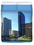 Chicago Heading Up The North River Branch Duvet Cover