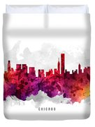 Chicago Illinois Cityscape 14 Duvet Cover