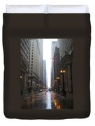 Chicago In The Rain 2 Duvet Cover