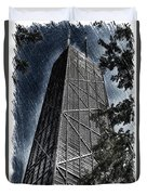 Chicago John Hancock In June Pa 01 Duvet Cover