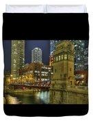 Chicago La Salle Street Bridge Duvet Cover