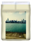Chicago Lake Michigan Skyline Duvet Cover