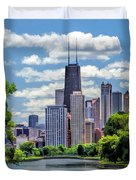 Chicago Lincoln Park Lagoon Duvet Cover