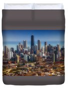 Chicago Looking East 01 Duvet Cover