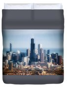 Chicago Looking East 02 Duvet Cover