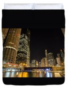 Chicago - Looking East From Dearborn Street Duvet Cover